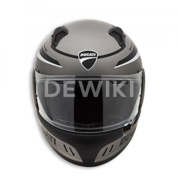 Мотошлем Ducati Black Steel, Grey