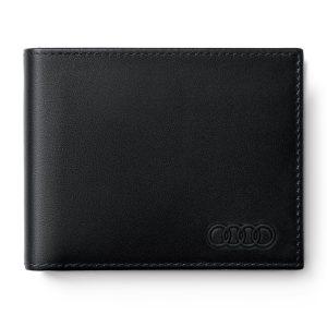 Мужской кожаный мини-кошелек Audi, Black
