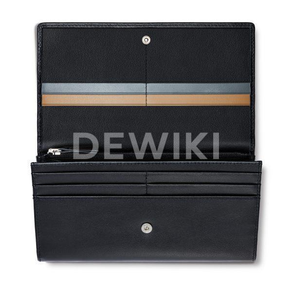 Женский кожаный кошелек Audi, Black