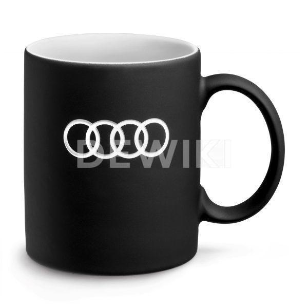 Фарфоровая кружка Audi, Black