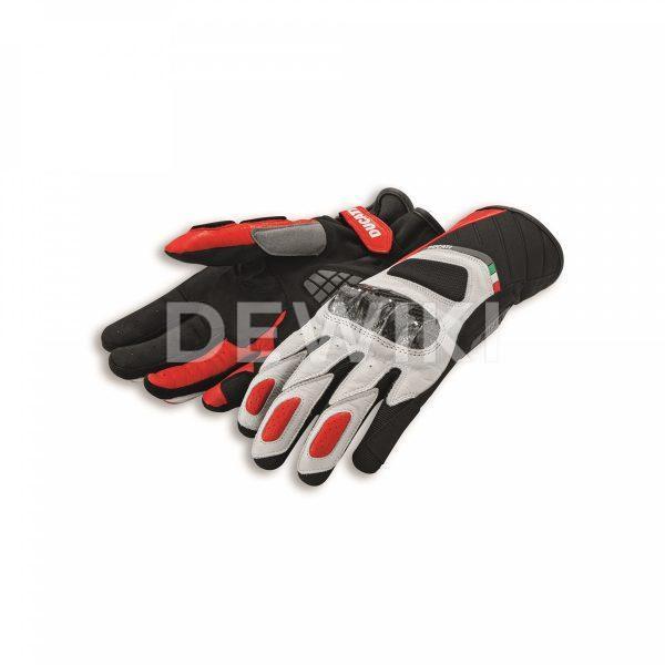 Мотоперчатки Ducati Sport C3, White/Red
