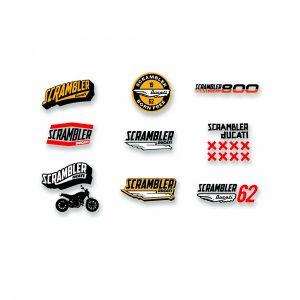 Наклейки с логотипом Ducati Lifestyle Scrambler