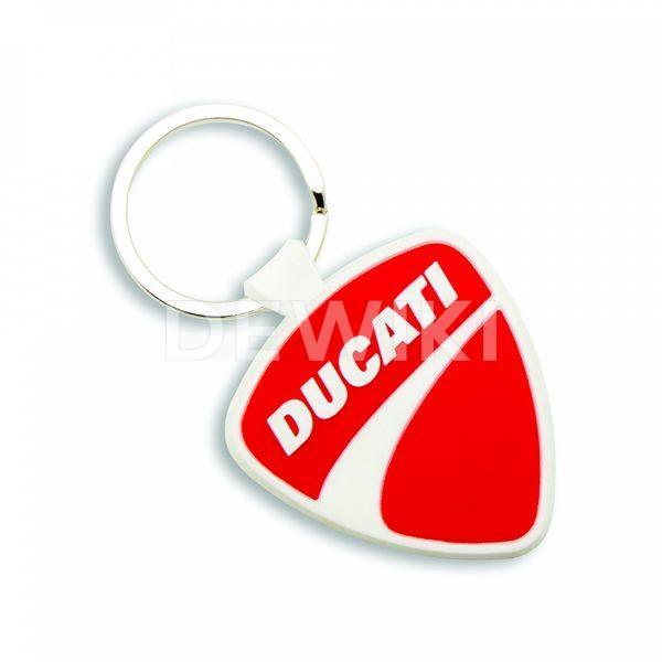 Резиновый брелок Ducati Shield, Red