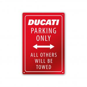 Ducati Парковочная пластина 20x30 см бело-красная