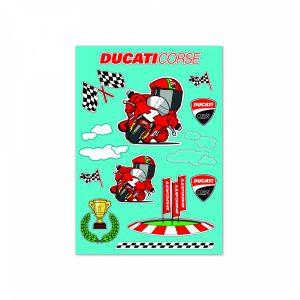 Мультяшные декоративные наклейки Ducati Corse, 30х45 см