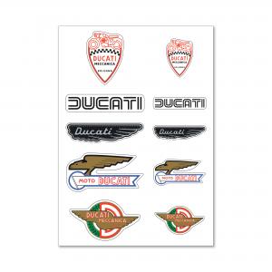 Наклейки Ducati Historical Mix из смолы