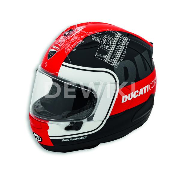 Мотошлем Ducati Corse V3, Black/Red