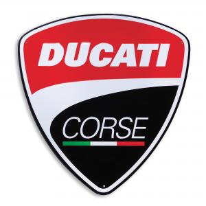 Металлический знак Ducati Corse, 40x42 см
