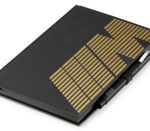 Блокнот с ручкой BMW M, Black / Gold
