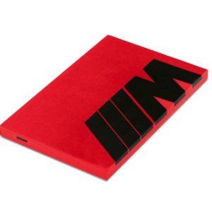 Блокнот BMW M, Red / Black