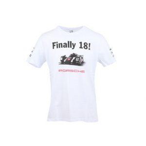 Мужская футболка Porsche 2016 Winning Le MansNo. 18
