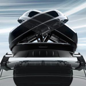 Бокс на крышу Porsche 911, Macan, Panamera, Cayenne и Taycan, 520 литров, черный