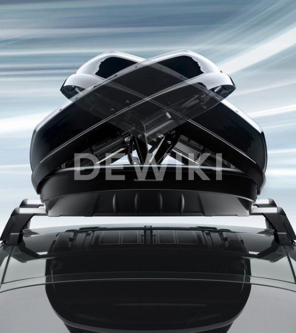 Бокс на крышу Porsche 911, Macan, Panamera, Cayenne и Taycan, 320 литров, черный