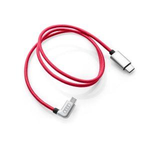Кабель для зарядки Audi USB-C - Micro-USB, угловой, красный