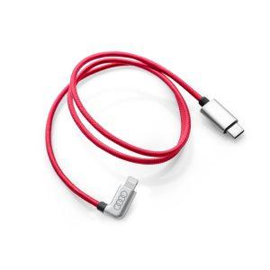 Кабель для зарядки Audi USB-C - кабель Apple Lightning угловой, красный
