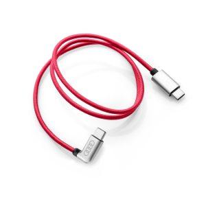 Кабель для зарядки Audi, USB-C - USB-C, красный, угловой
