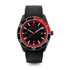 Мужские часы Audi Sport, черный / красный