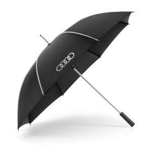 Большой зонт Audi Stick, черный/серебристый