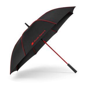 Большой зонт-тростьAudi Sport, черный/красный