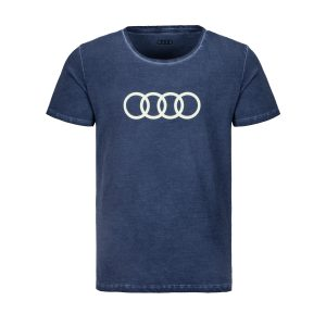 Мужская футболка кольца Audi, синяя