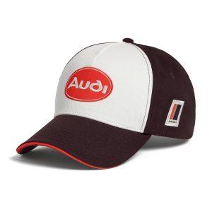 Бейсболка Audi heritage, коричневый/белый