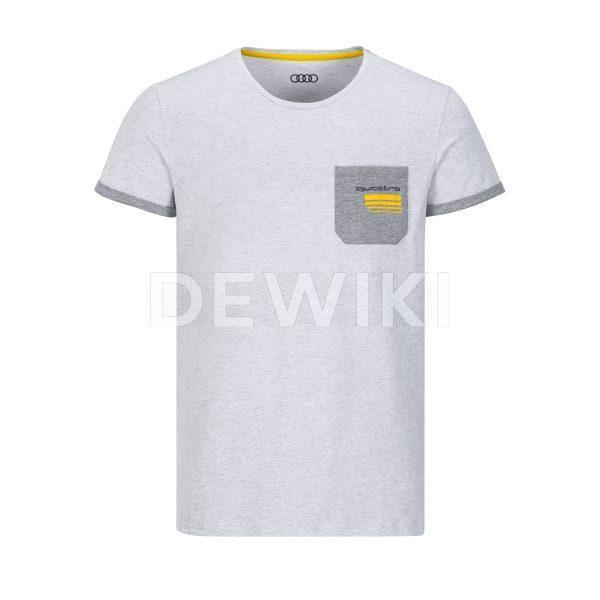 Мужская футболка Audi quattro, светло-серая