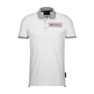 Мужская рубашка-поло Audi Sport, белая