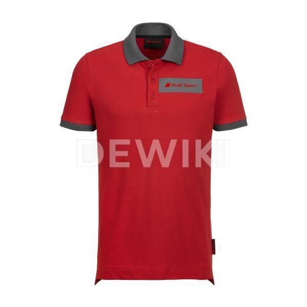 Мужская рубашка-поло Audi Sport, красная