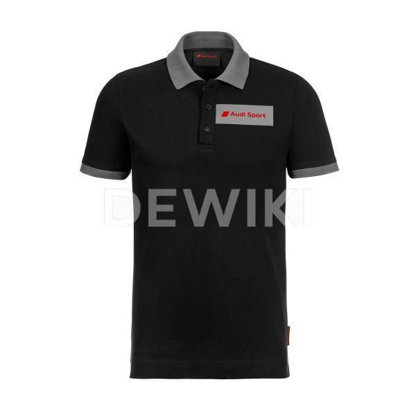 Мужская рубашка-поло Audi Sport, черная