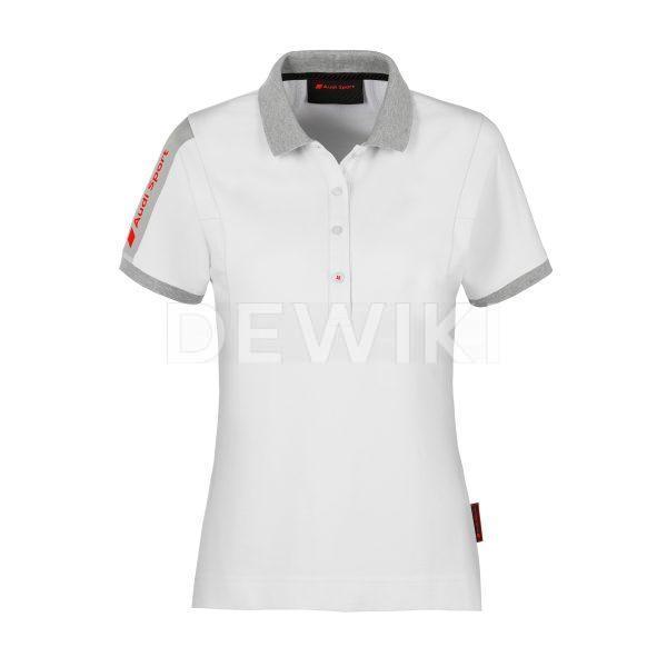 Женская рубашка-поло Audi Sport, белая