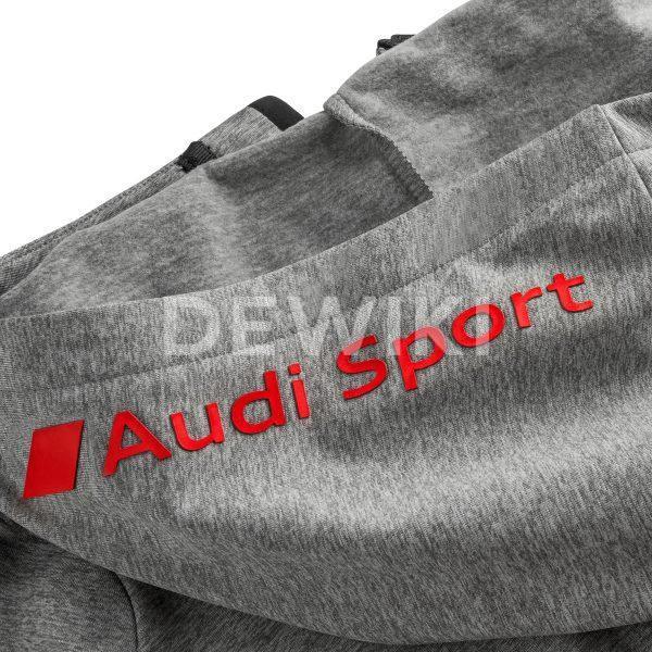 Мужская толстовка с капюшоном Audi Sport, серая