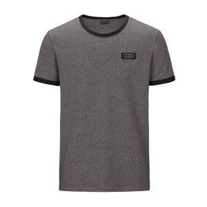 Мужская футболка кольца Audi, серый меланж