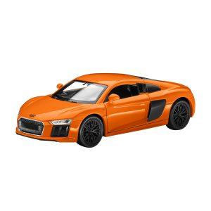 Инерционная модель Audi R8, Solar Orange, масштаб 1:38