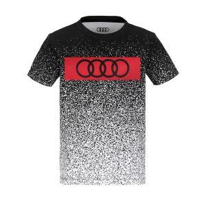 Детская футболка Audi для мальчиков, черно-белая/красная