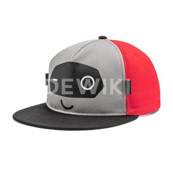Детская бейсболка Audi ADUI, серая/красная