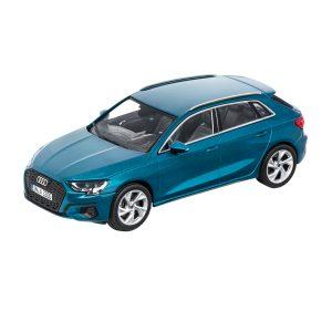 Модель в миниатюре Audi A3 Sportback, Atoll blue, масштаб 1:43