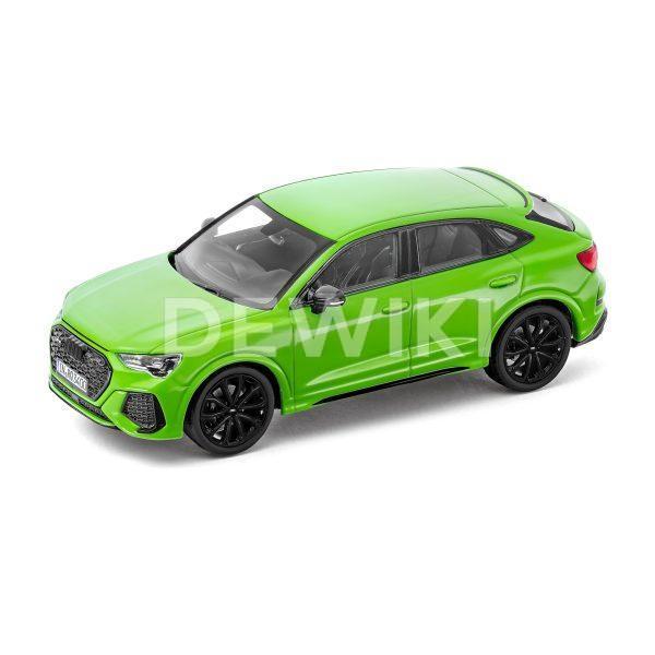 Модель в миниатюре Audi RS Q3 Sportback, Kyalami Green, масштаб 1:43