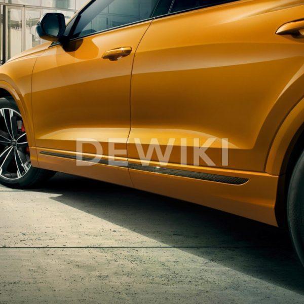 Карбоновая накладка на порог Audi Q8, спереди справа