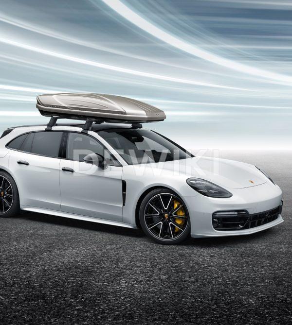 Бокс на крышу Porsche 911, Macan, Panamera, Cayenne и Taycan, 320 литров, платиновый