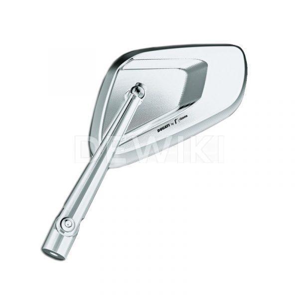 Алюминиевое зеркало заднего вида Rizoma Ducati, левое, Silver