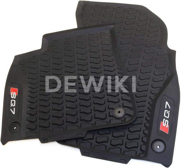 Резиновые передние коврики Audi Q7, контрастная надпись SQ7
