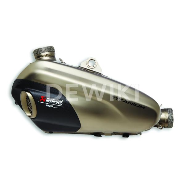 Титановый глушитель Akrapovic Ducati Panigale V4 / Streetfighter V4