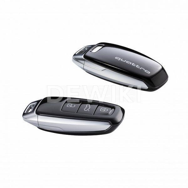Пластиковая крышка для ключа Audi quatttro, Mythos Black Metallic