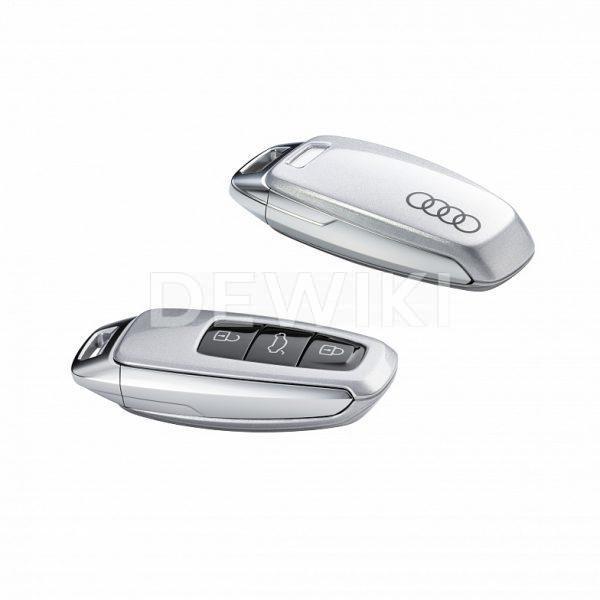 Пластиковая крышка для ключа Audi, Floret Silver Metallic