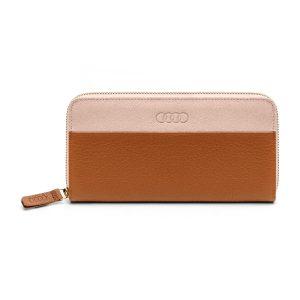 Женский кожаный кошелек Audi, Brown Rose