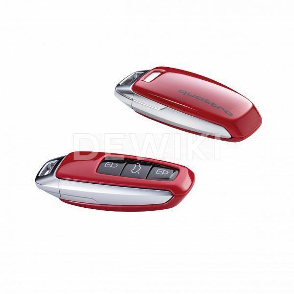 Пластиковая крышка для ключа Audi quatttro, Tango Red