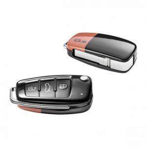 Пластиковая крышка для ключа Audi Q3, Pulse Orange / Brilliant black