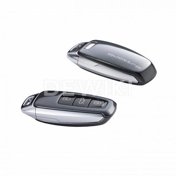 Пластиковая крышка для ключа Audi quatttro, Daytona Grey